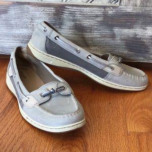 Grey/silver Women's Sperry Slip-on